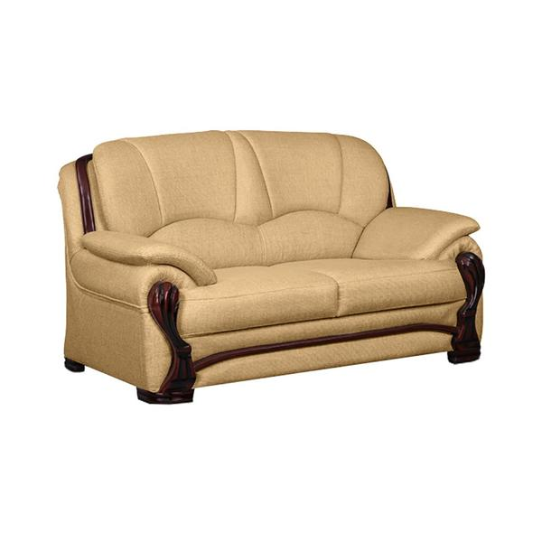 Bharat Lifestyle China Gate Fabric 2 Seater Sofa (Color - Gold)