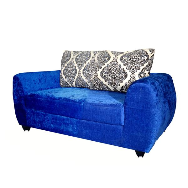 Bharat Lifestyle Delight Fabric 2 Seater Sofa (Color - Blue)