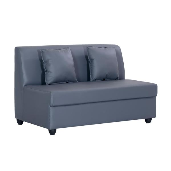Bharat Lifestyle Delta Leatherette 2 Seater Sofa (Color-Grey)