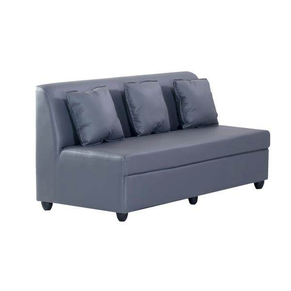 Bharat Lifestyle Delta Leatherette 3 Seater Sofa (Color-Grey)