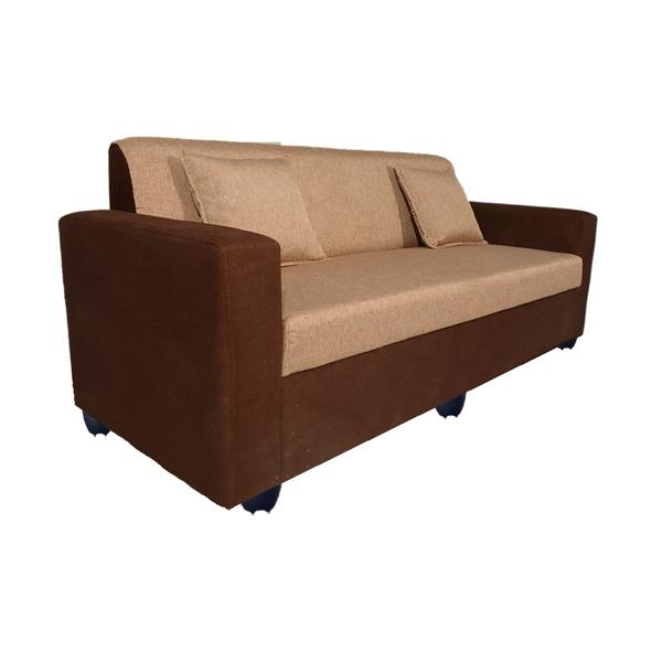 Bharat Lifestyle Lexus Fabric 3 Seater (Finish Color - Golden Brown)