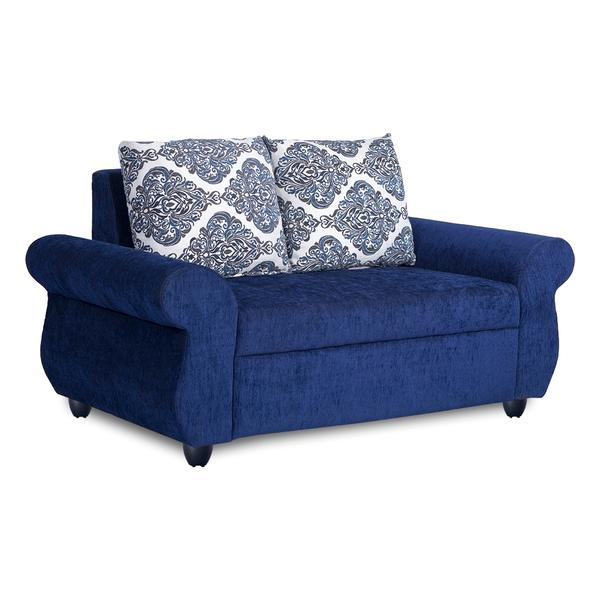 Bharat Lifestyle Alisa Fabric 2 Seater Sofa (Color-Blue)