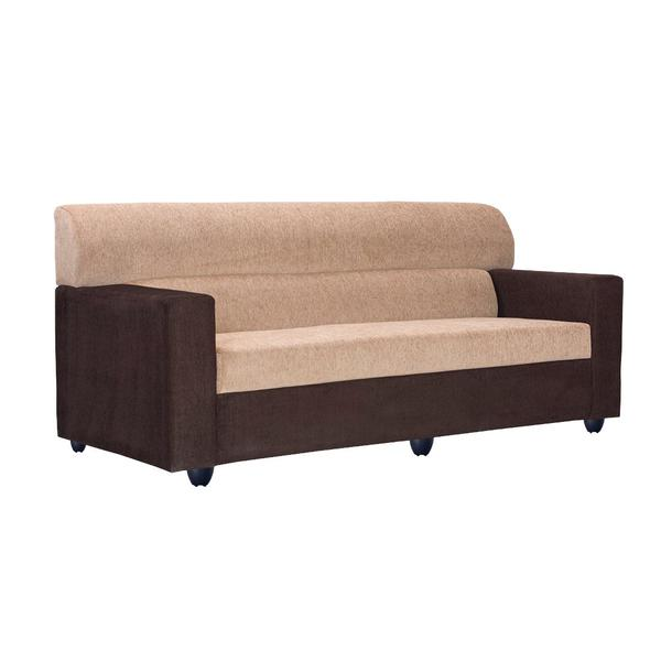Bharat Lifestyle Prince Fabric 3 Seater (Finish Color - Cream Brown)