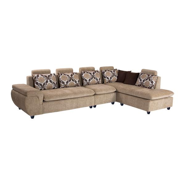 Bharat Lifestyle Valentino Fabric 6 Seater (Finish Color - Cream)