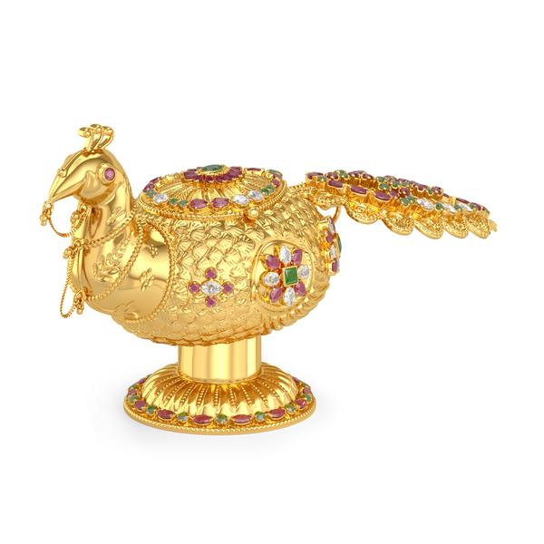 Peacock  Sindoor Box For Women