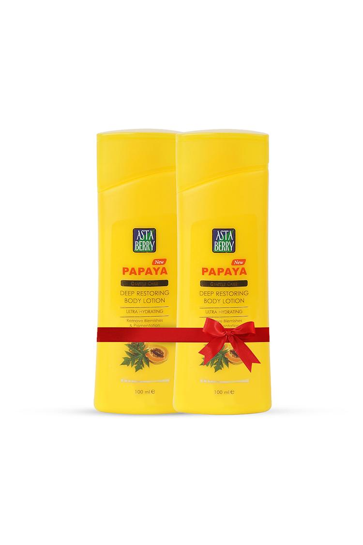 Astaberry Papaya MoisturizingLotion Pack Of 2 100ml
