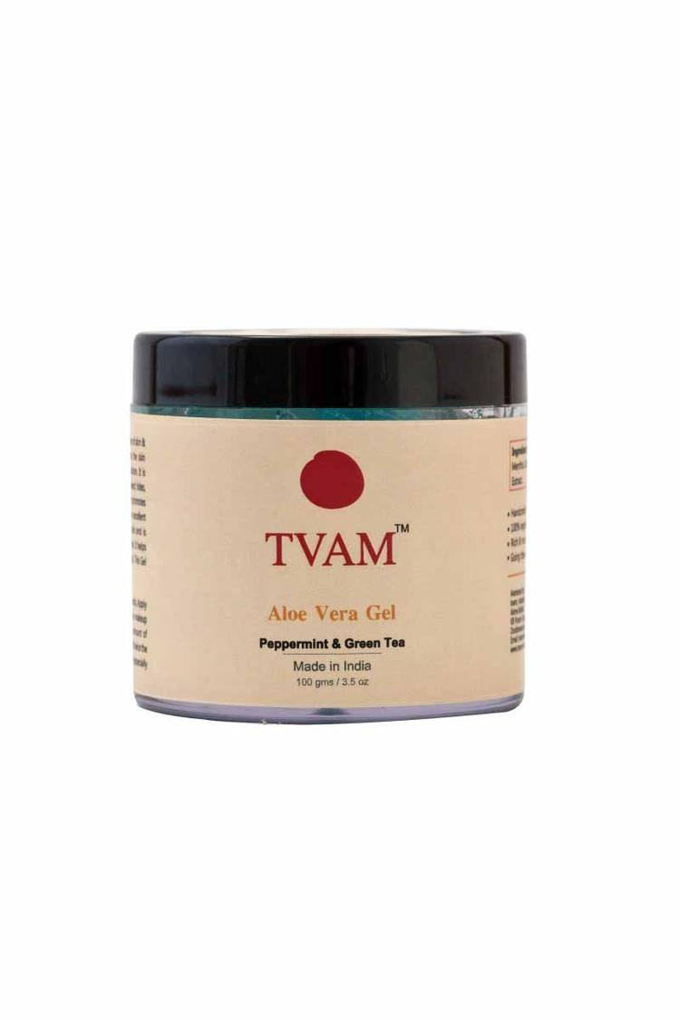 Tvam Aloe Vera Gel Peppermint And Green Tea 100Gm