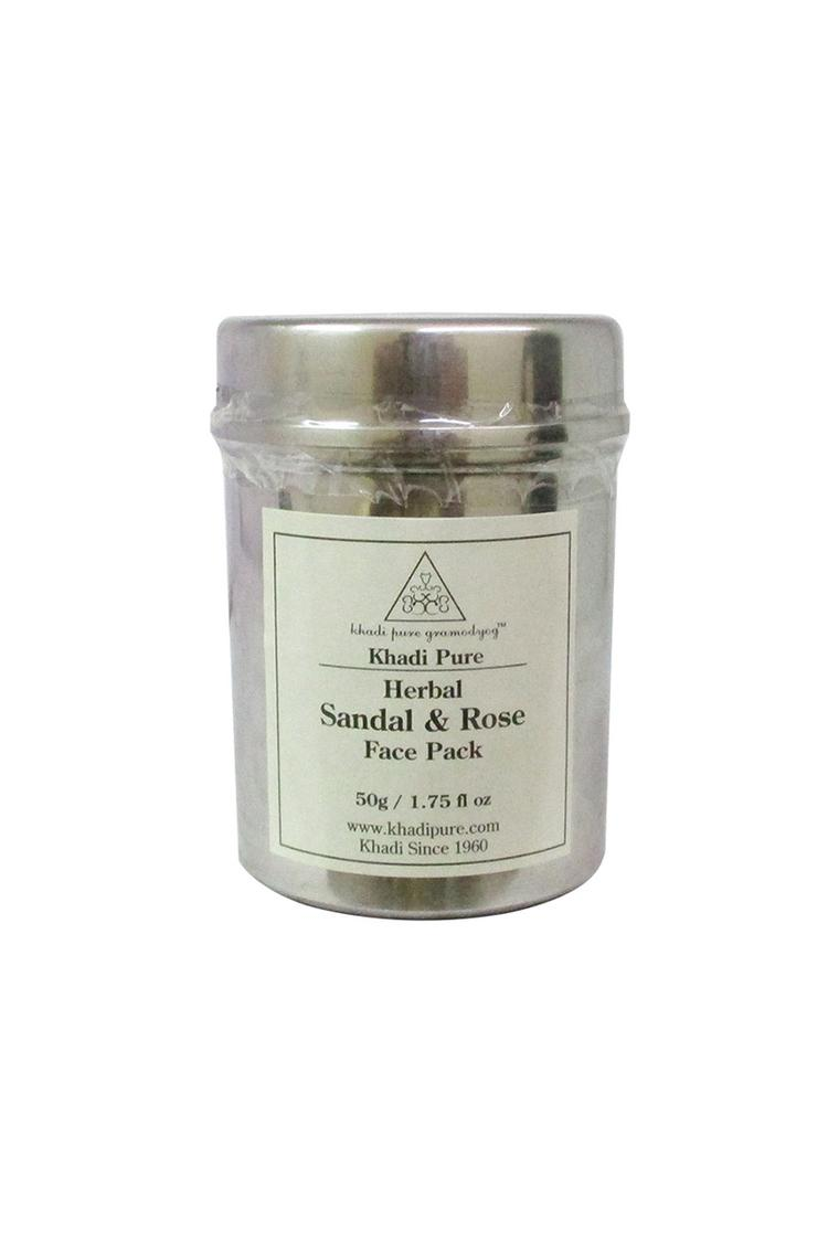 Khadi Pure Herbal Sandal & Rose Face Pack 50Gm
