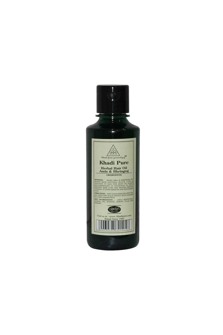 Khadi Pure Herbal Amla & Bhringraj Hair Oil 210Ml