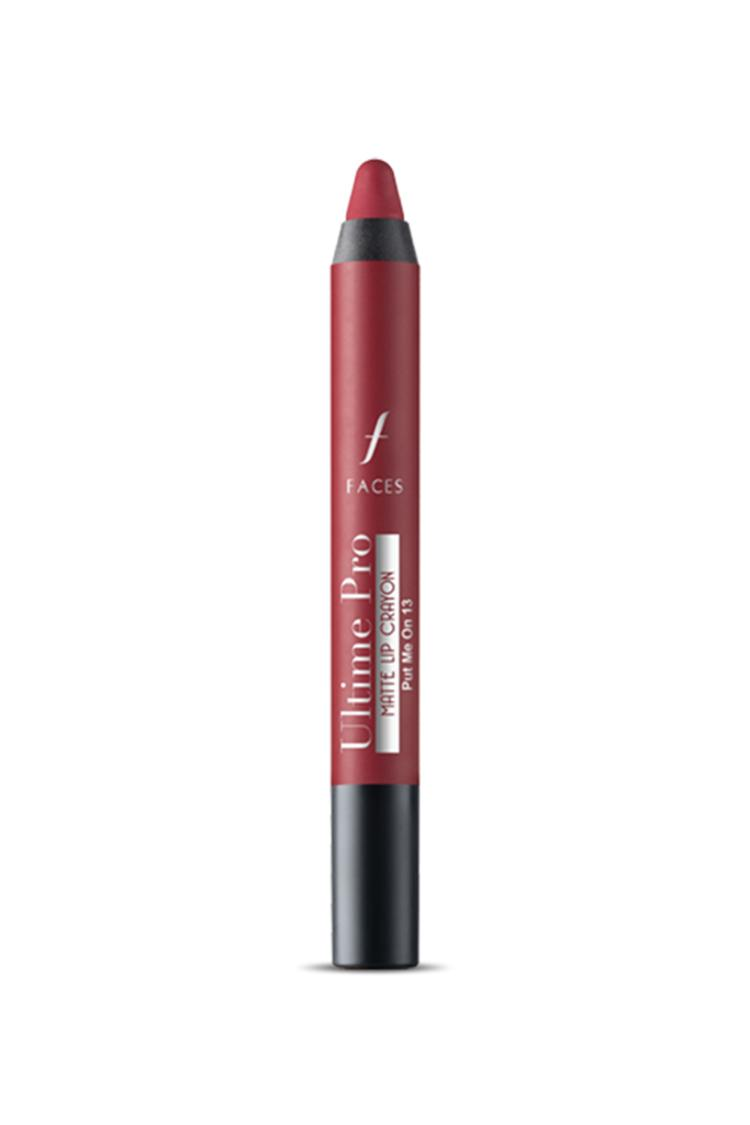 Faces Canada Pro Matte LipCrayon Blushing Nude 21 2.8gm With Sharpener