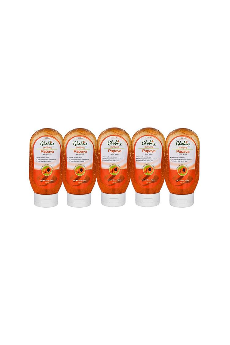 Globus Papaya Purifying Face Wash Pack Of 5
