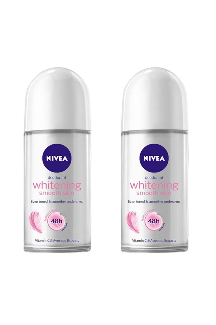 Nivea Whitening Smooth Skin Roll On 50Ml Pack Of 2