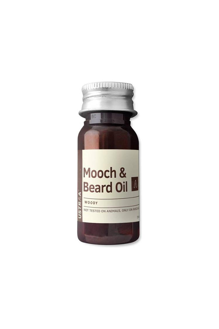 Ustraa Mooch And Beard Oil Woody For Men 35Ml
