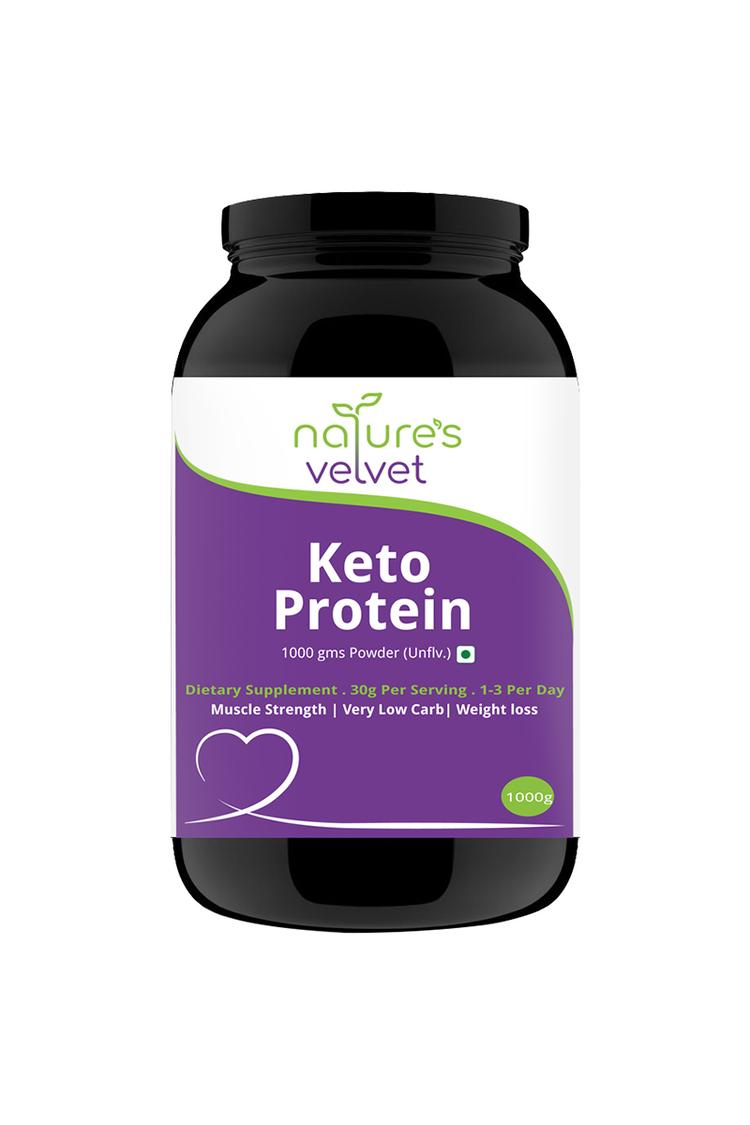 Natures Velvet Lifecare Keto Protein For Fitness & Strength 1000gm