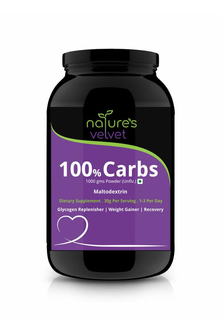 Natures Velvet 100 % Carbs 2.2 Lbs Unflavoured For Weight Gain