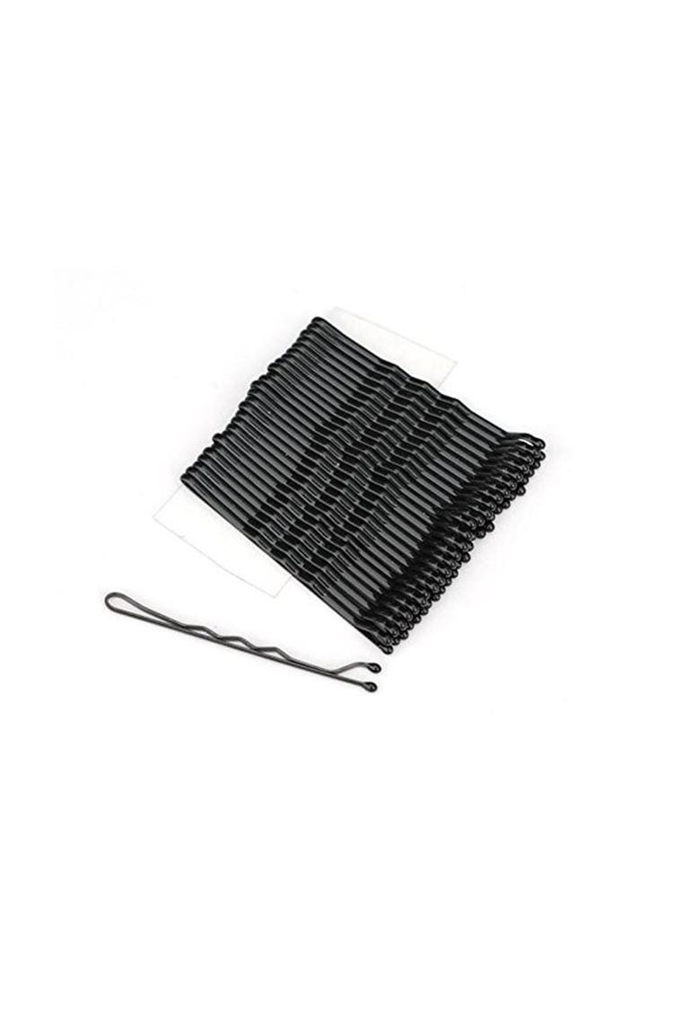 Basicare Hairpin Large 24 Pack 7.5Cm Blk