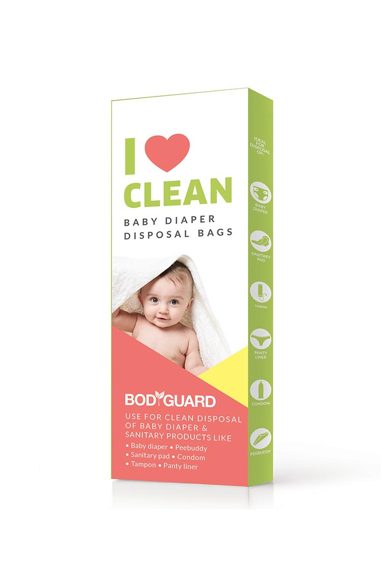 BodyGuard Baby Diapers and Sanitary Disposal Bag 15 Bags