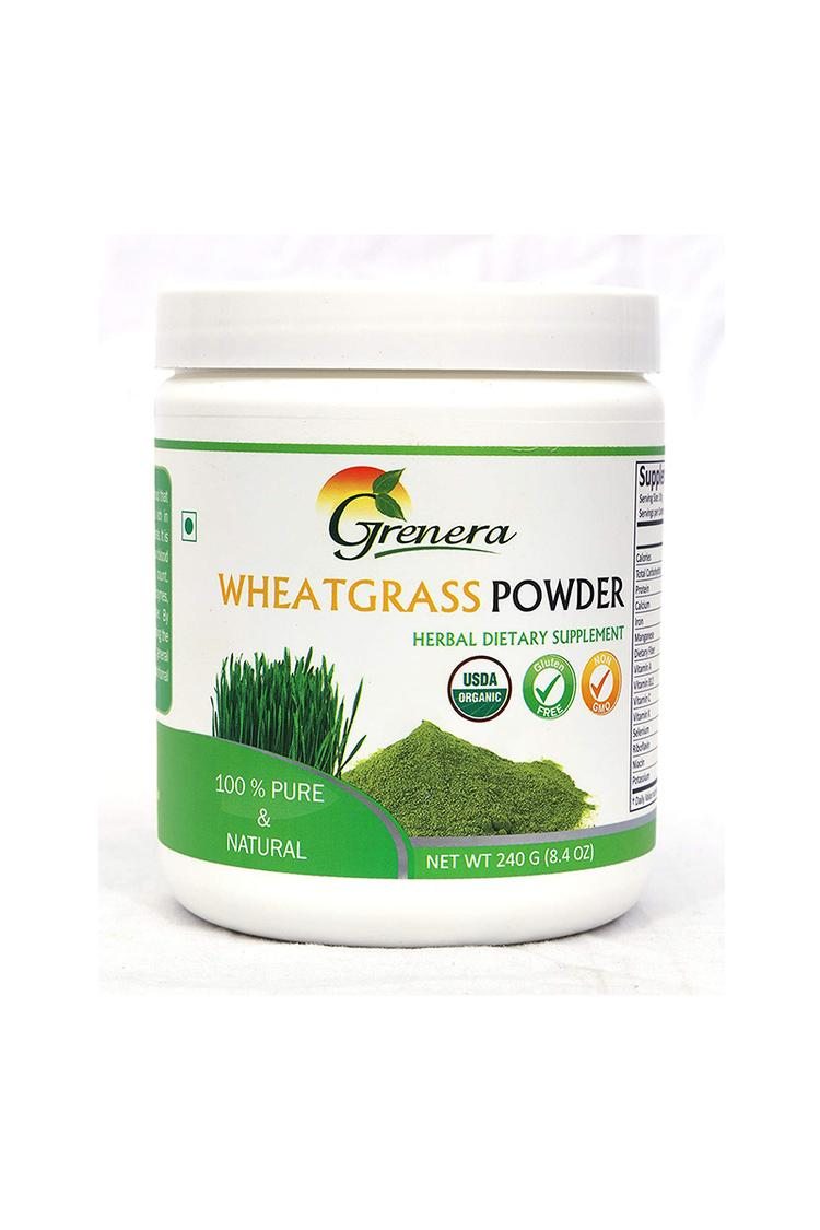 Grenera Wheat Grass Powder 240 Gm Jar