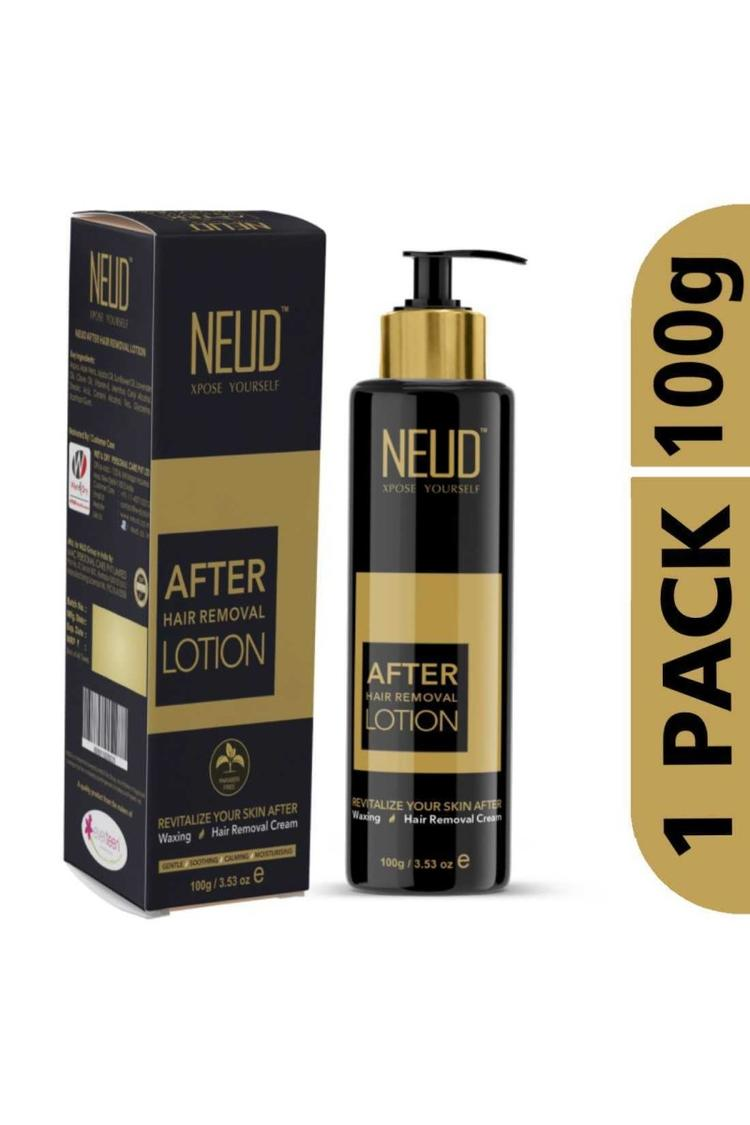 Buy  NEUD After Hair Removal Lotion for Skin Care in Men & Women – 1 Pack (100 gm)