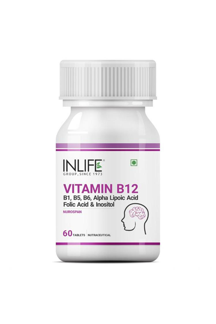 Inlife Vitamin B12 Alpha Lipoic Acid60 Tablets Cog