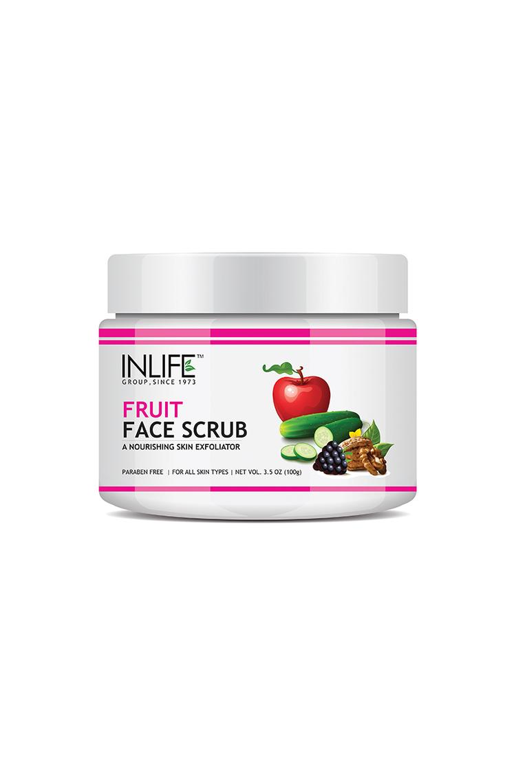 Inlife Natural Fruit Face Scrub100Gmparaben Free B