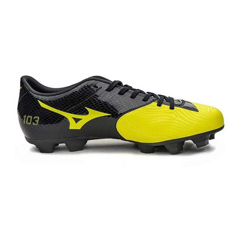 Mizuno Basara 103 MD Football Shoes (Yellow/Black)