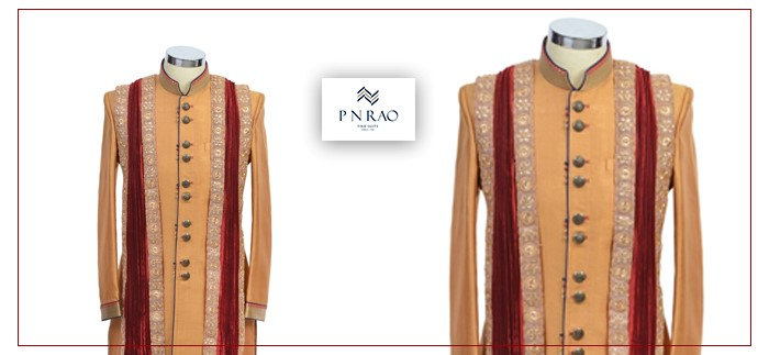 dark cream jodhpuri indo-western suit