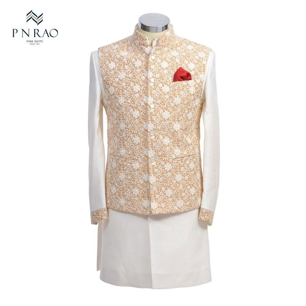 Mens designer white kurta