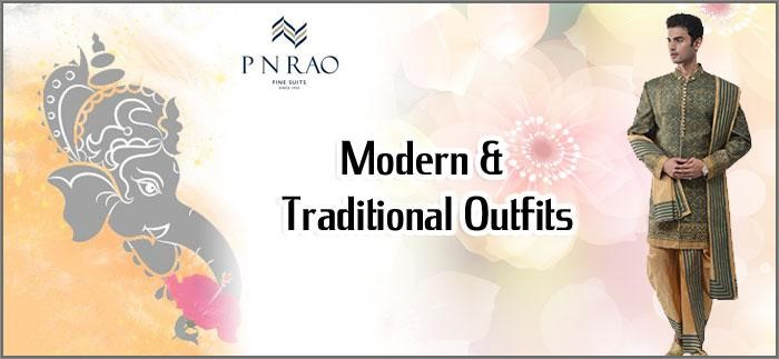 Modern and traditional outfits for Ganesh Chaturthig