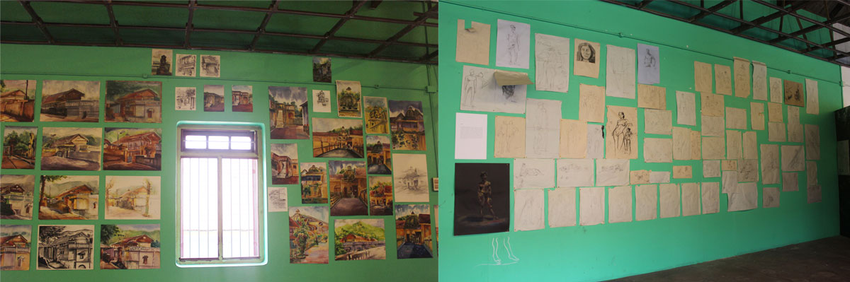 wall students works