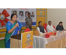 Smt.Sailaja Kiron addressing the 25TH NHRAI HR MEET