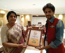 Best Business Women Award presented by 92.7 big FM.