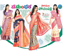 A Fusion of understated Ikat and Kanchivaram charm,Ethnic  extraordinaire in   pochampally  Ikat sarees