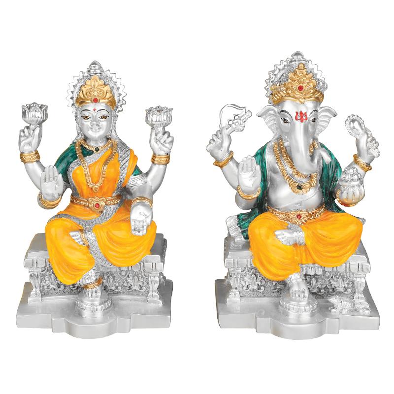 Religious Gifts Ganesha Idols Laxmi Ganesh Silver Ganesh Idols