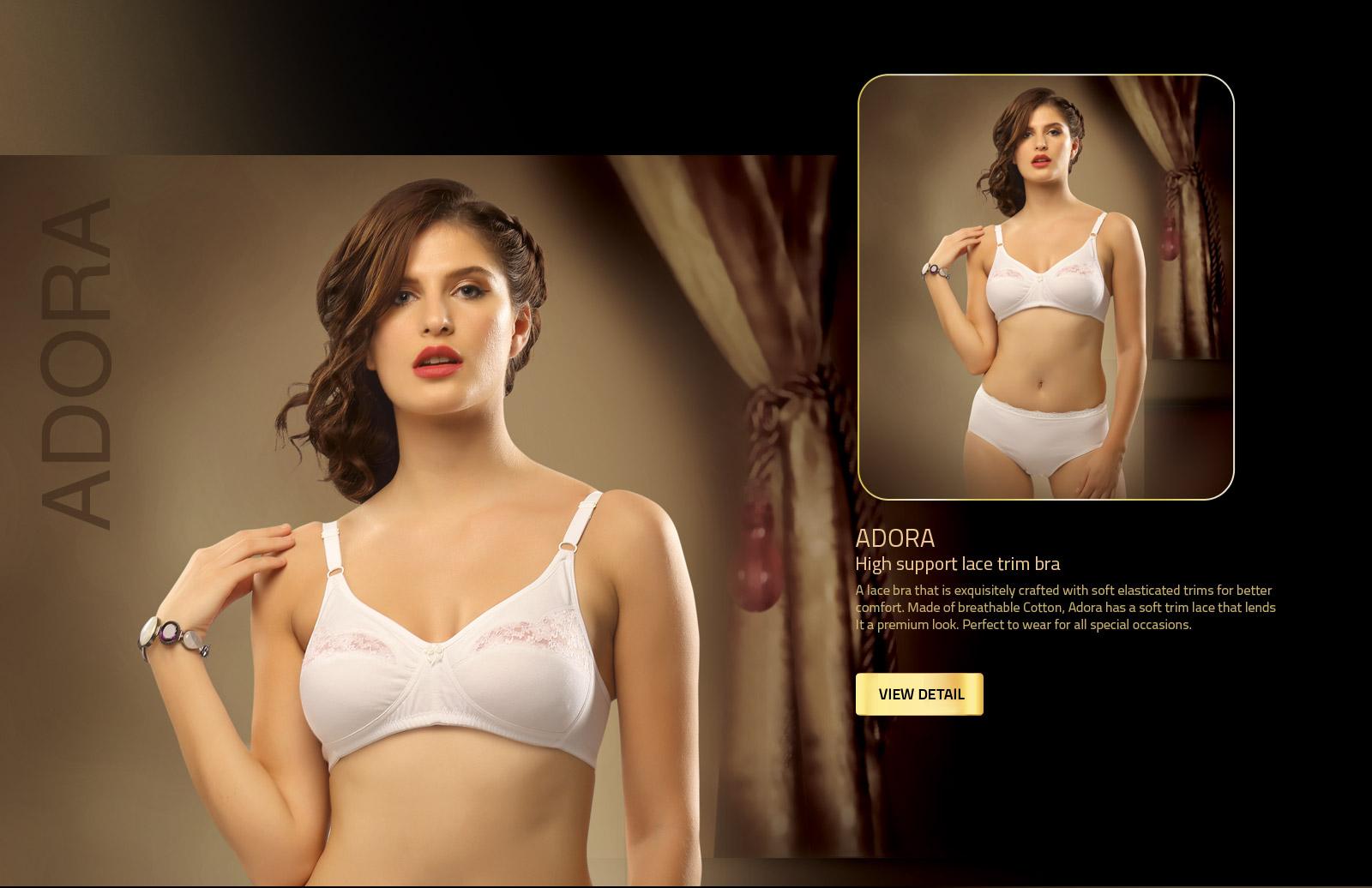 buy lace trim bra for women v star