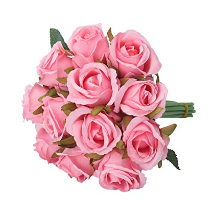 Bunch of 12 Pink Roses