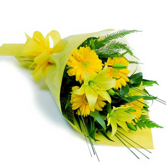 15 Yellow Gerberas Bouquet