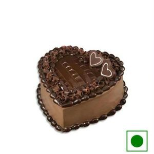 Egg less Heart shape Cake