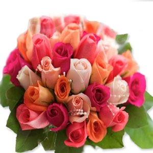 50 Assorted Colorful Roses Bouquet