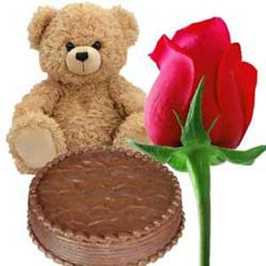 single chocolate rose