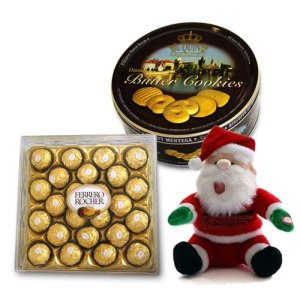 Chocolates With Cookies n Santa