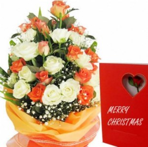 Christmas Mixed Rose Bouquet