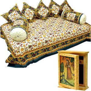 Dewan Bedcover Set n Get Key Holder Box Free