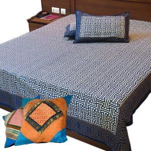 Double BedSheet Set n Get Cushion Cover Free