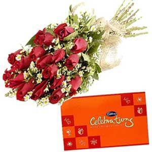 Beautilful Roses N Cadbury Celebration