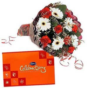 Mix Flowers N Cadbury Celebration