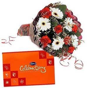 Mix Flowers N Cadbury Celebration