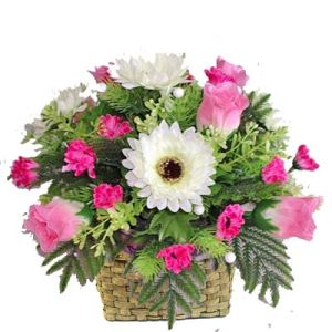 Basket of 18 Roses n Gerberas