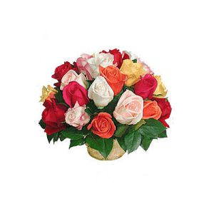 Natural Basket of 36 Roses