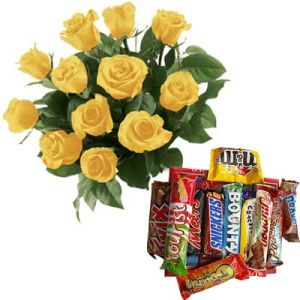 Bunch of Yellow Roses n Chocolates